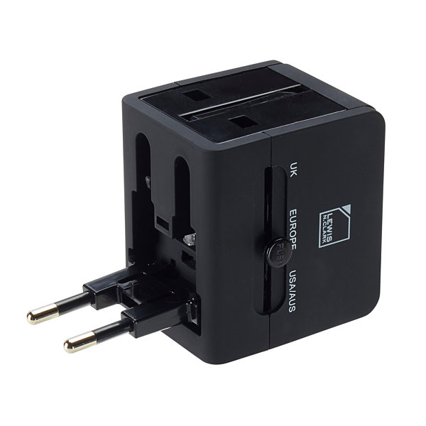 Global Adapter with USB Charger
