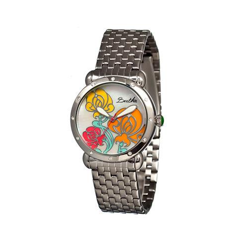 Bertha Josephine Womens Mother Of Pearl Dial Silver Tone Bracelet Watch Bthbr1501