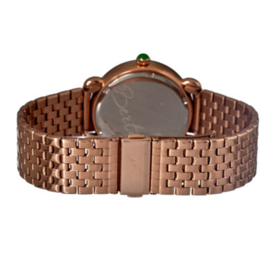 Bertha Josephine Womens Mother Of Pearl Dial Rose Gold Tone Bracelet Watch Bthbr1503