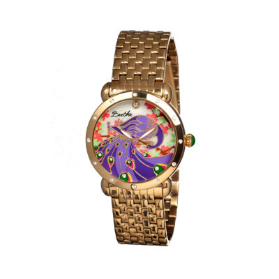Bertha Didi Womens Mother Of Pearl Dial Gold Tone Bracelet Watch Bthbr2802