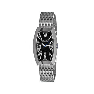 Bertha Laura Womens Swiss Black Dial Silver Tone Bracelet Watch Bthbr3202
