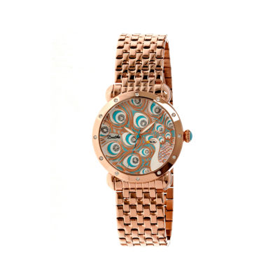 Bertha Genevieve Womens Mother Of Pearl Dial Rose Gold Tone Bracelet Watch Bthbr3803