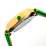 Bertha Gisele Womens Mother Of Pearl Dial Green Leather Strap Watch Bthbr4403
