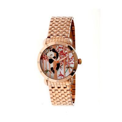 Bertha Lilly Womens Mother Of Pearl Dial Rose Gold Tone Bracelet Watch Bthbr4503
