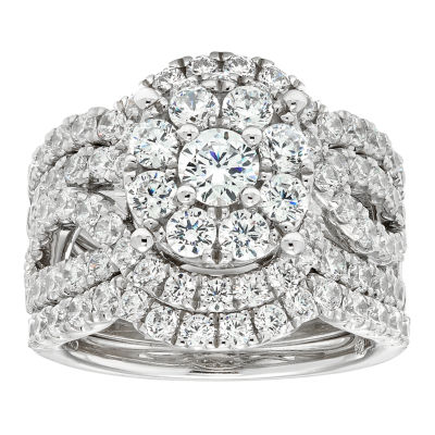 3 Ct. T.W. Diamond 10K White Gold Engagement Ring