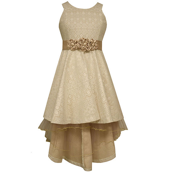 Bonnie Jean® Ivory Bonded Lace High-Low-Hem Princess Dress - Girls- Size 7-16