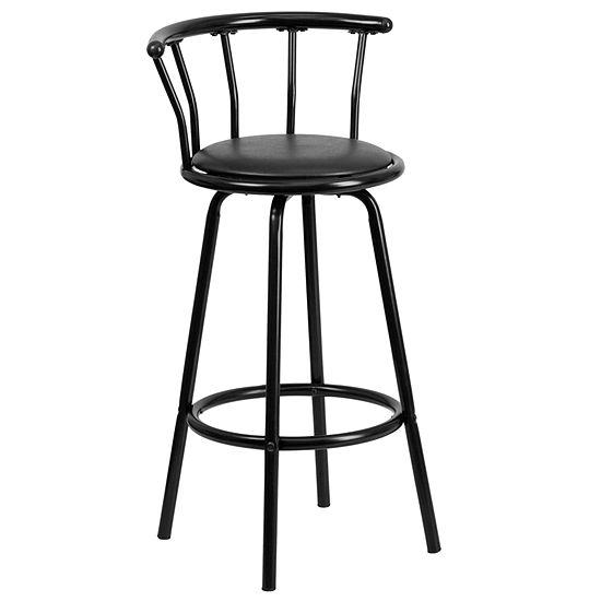 Pleasing Crown Back Metal Barstool With Vinyl Swivel Seat Beatyapartments Chair Design Images Beatyapartmentscom