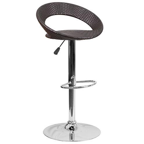 Wicker Adjustable Bar Stool