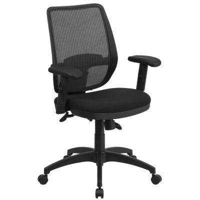 Mid-Back Mesh Executive Swivel Chair with Back Angle Adjustment and Adjustable Arms