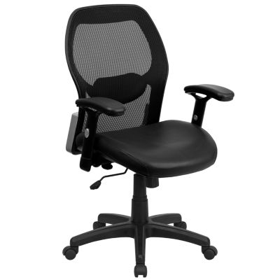 Mid-Back Super Mesh Executive Swivel Chair with Adjustable Arms