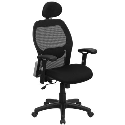 High Back Super Mesh Executive Swivel Chair with Adjustable Arms