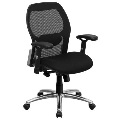 Mid-Back Super Mesh Executive Swivel Chair with Knee Tilt Control and Adjustable Arms