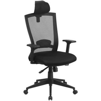 High Back Mesh Executive Swivel Chair with Back Angle Adjustment and Adjustable Arms