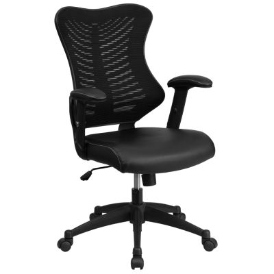 High Back Designer Mesh Executive Swivel Chair with Adjustable Arms