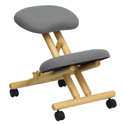 Mobile Wooden Ergonomic Kneeling Chair