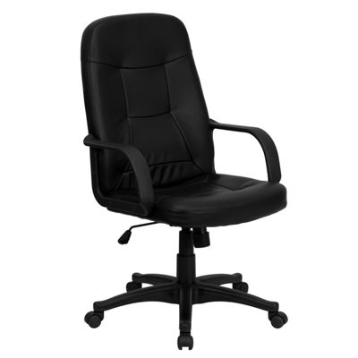 High Back Glove Vinyl Executive Swivel Chair withArms