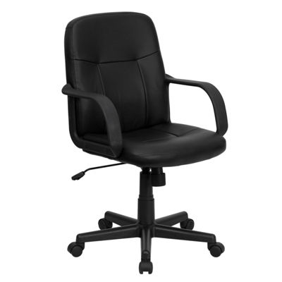 Mid-Back Glove Vinyl Executive Swivel Chair with Arms