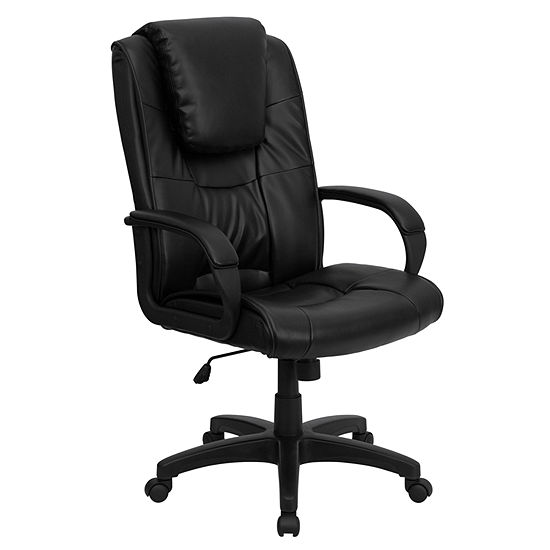 High Back Leather Executive Swivel Chair With Arms Color