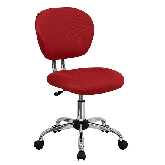 Mid Back Mesh Swivel Task Chair With Chrome Base