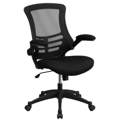 Mid-Back Mesh Swivel Task Chair with Flip-Up Arms