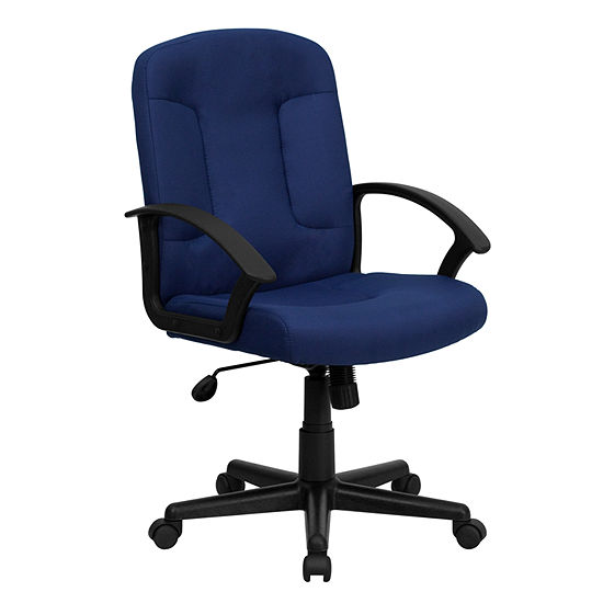 Mid Back Fabric Executive Swivel Chair With Nylonarms