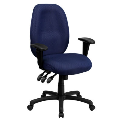 Patterned Fabric High Back Office Chair