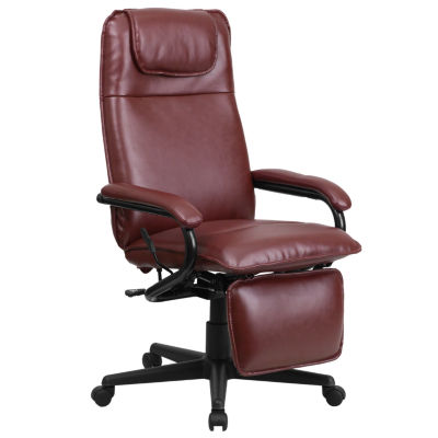 High Back Leather Executive Reclining Swivel Chairwith Arms