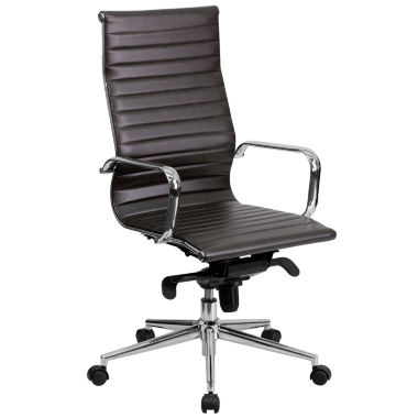 High Back Contemporary Leather Office Chair