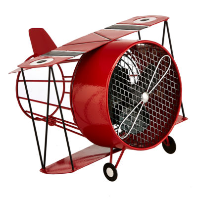 Deco Breeze® Red Biplane Shaped Decorative Fan