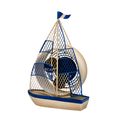 DecoBreeze™ Sailboat Figurine Fan