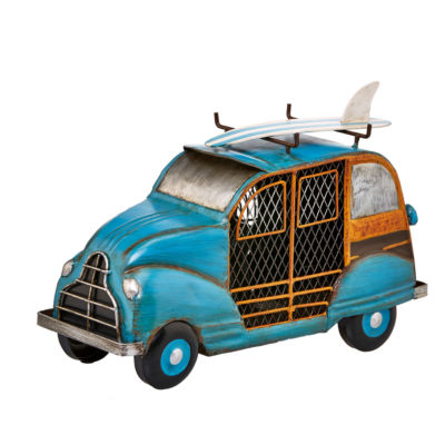 DecoBreeze™ Blue Woody Car Figurine Fan