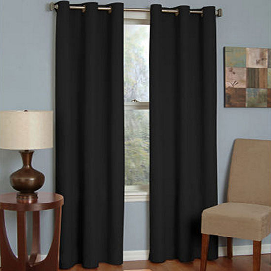 Eclipse Microfiber Energy Saving Blackout Grommet-Top Curtain Panel