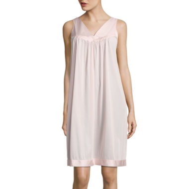 Vanity Fair Tricot Sleeveless V Neck Nightgown