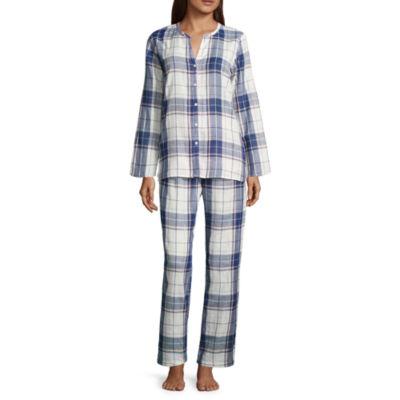 Liz Claiborne 2-pack Plaid Pant Pajama Set