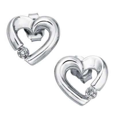 Diamond Accent Genuine White Diamond 10K Gold 6mm Stud Earrings
