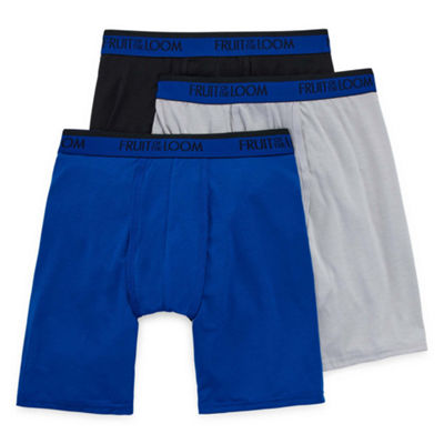 Fruit Of The Loom Premium CoolBlend 3-pc. Long Leg Boxer Briefs