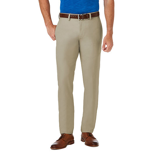 Haggar Cool 18 Pro Mens Mid Rise Slim Fit Flat Front Pant