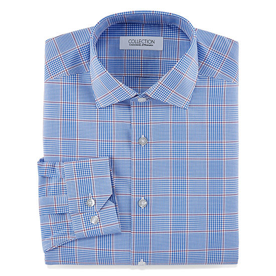 Collection by Michael Strahan  Collection By Michael Strahan Stretch Fabric Long Sleeve Dress Shirt Mens Spread Collar Long Sleeve Wrinkle Free Stretch Dress Shirt