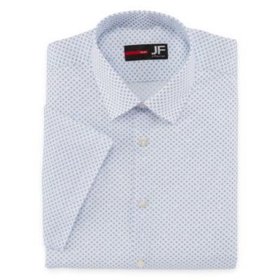J Ferrar Stretch Slim Fit Short Sleeve Dress Shirt