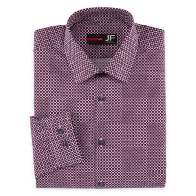 Jf J. Ferrar Easy-Care Stretch Slim Fit Long Sleeve Dress Shirt