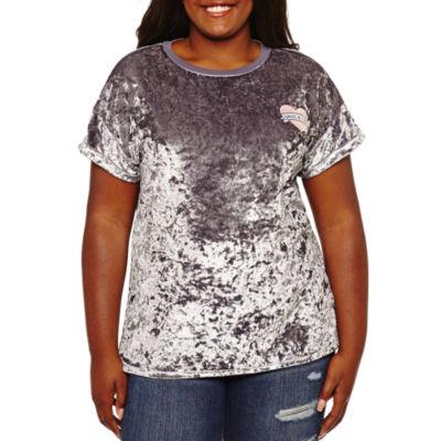 Velvet Graphic T-Shirt- Juniors Plus