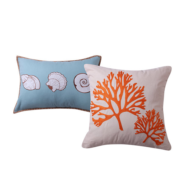 Barefoot Bungalow Atlantis 2-Pack Square Throw Pillow