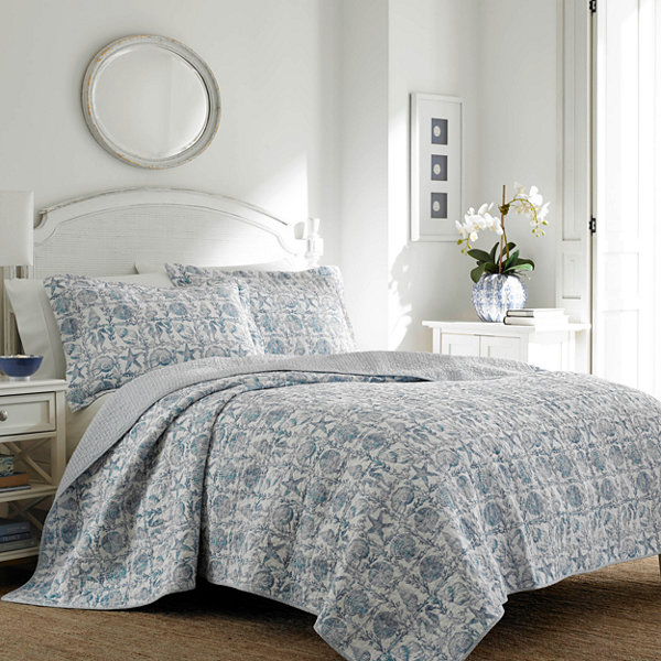 Laura Ashley Bettina Beach 3-Piece Quilt Set