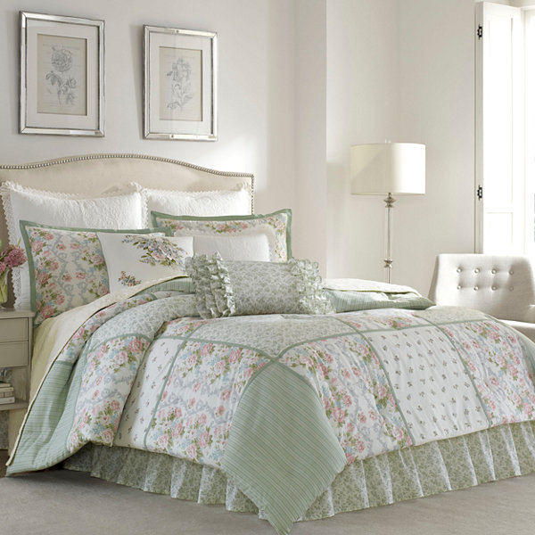 Laura Ashley Harper 4 Pc Comforter Set Jcpenney