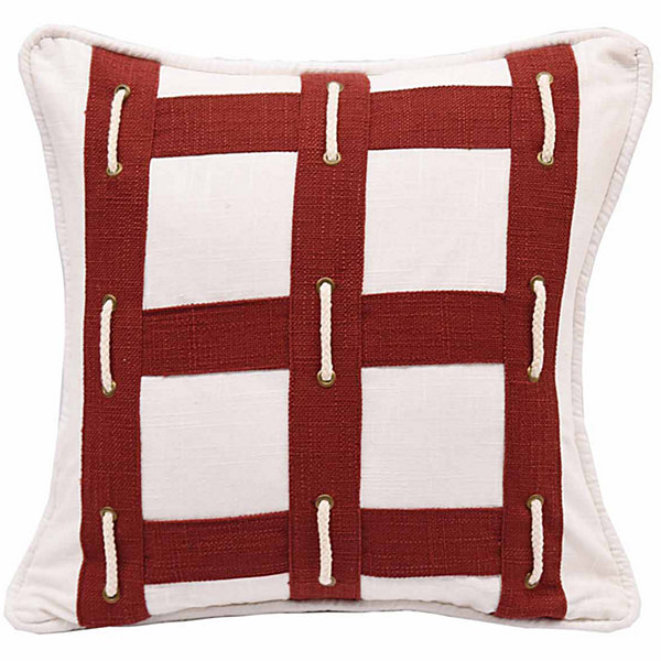 Hiend Accents 18x18 Linen With Rope Bed Rest Pillow