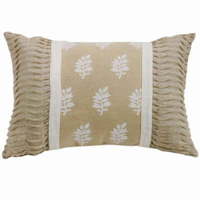 Hiend Accents 16x24 Oblong With Rouching Ends BedRest Pillow