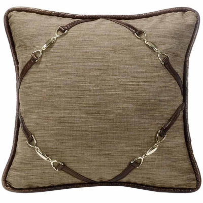 Hiend Accents 18x18 Buckle Corners Bed Rest Pillow