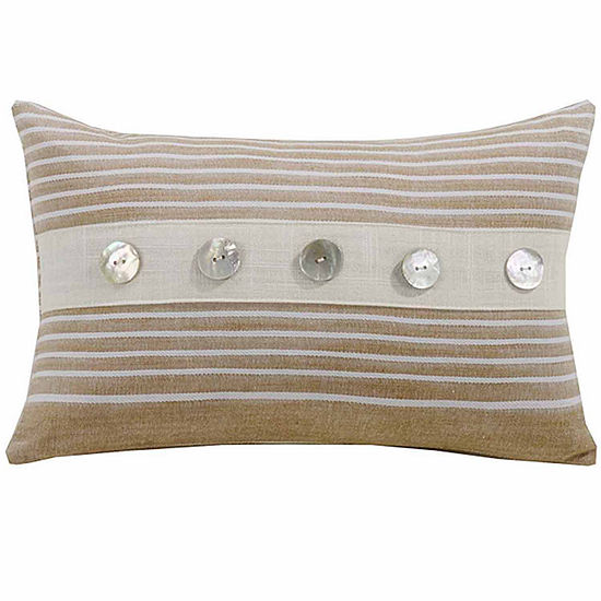 Hiend Accents 9x14 Small Striped Bed Rest Pillow