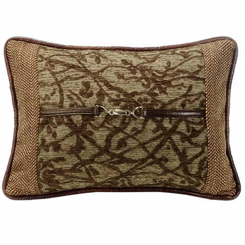 Hiend Accents 14x20 Tree With Bucket Detail Bed Rest Pillow