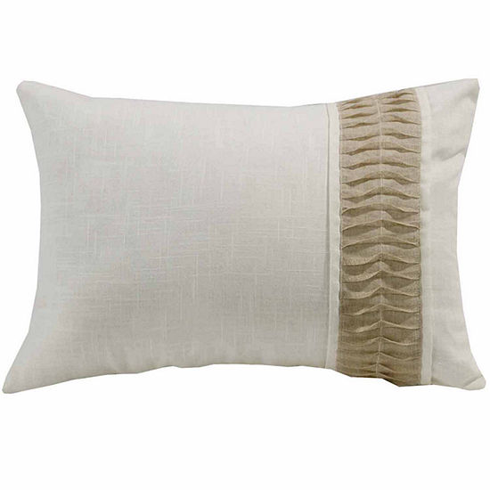 Hiend Accents 16x24 Linen With Rouching Detail BedRest Pillow